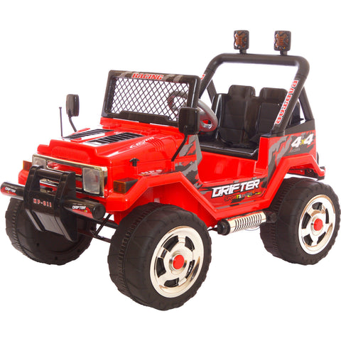 Drifter 4x4 12V Jeep Red