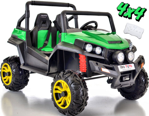 24v WildCat  ATV 4WD EVA Tires-Leather Seats Green