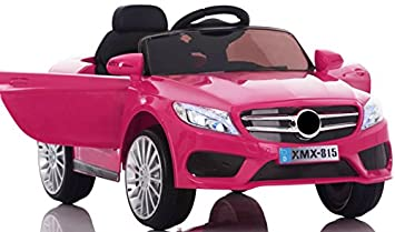 12v Mercedes Style Coupe Car Pink