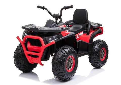 24v Desert Quad 4WD EVA Rubber Tires Red