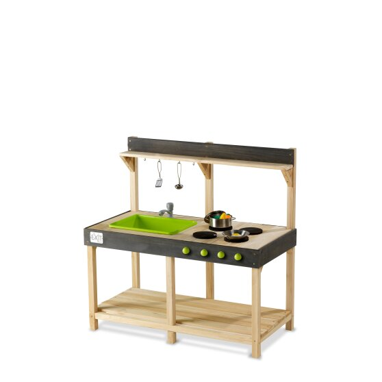 Outdoor Wooden Kitchen with Accessories Small