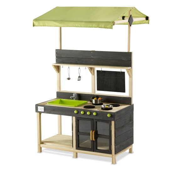 Outdoor Wooden Kitchen with Accessories Large