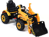 12v Electric Tractor with Loader Yellow
