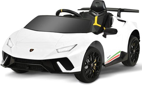 12V Licensed Lamborghini Huracan Car White