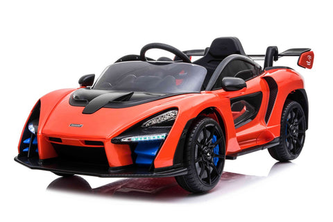 12v 12V Licensed McLaren Senna Ride On Car Orange