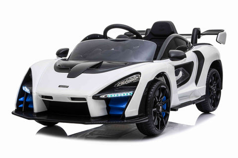 12v 12V Licensed McLaren Senna Ride On Car White
