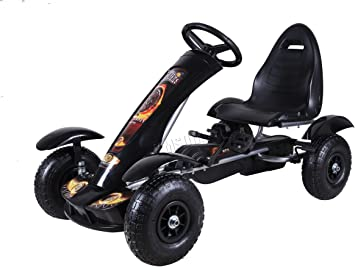 Thunder Rubber Air Wheel Go-Kart Black