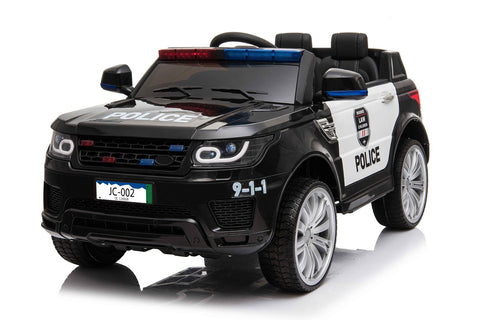 12v Black Police Ride On Car