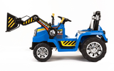 12v Tractor with Moving Loader Bucket Blue FREE DELIVERY