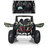24v 2WD UVT ARMY BUGGY Upgraded Leather Seat & EVA Tires
