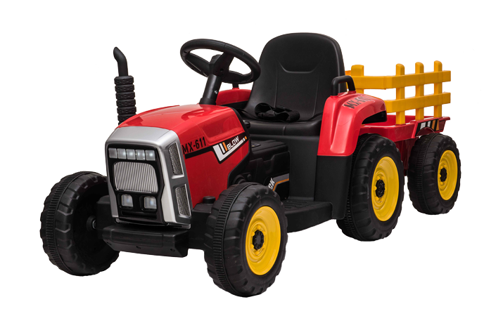 12v R/C Twin Motor Tractor & Trailer Red