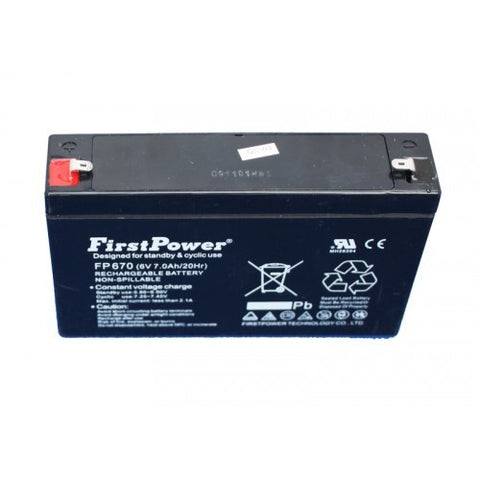6v 6.7Ah Lead Acid Battery.