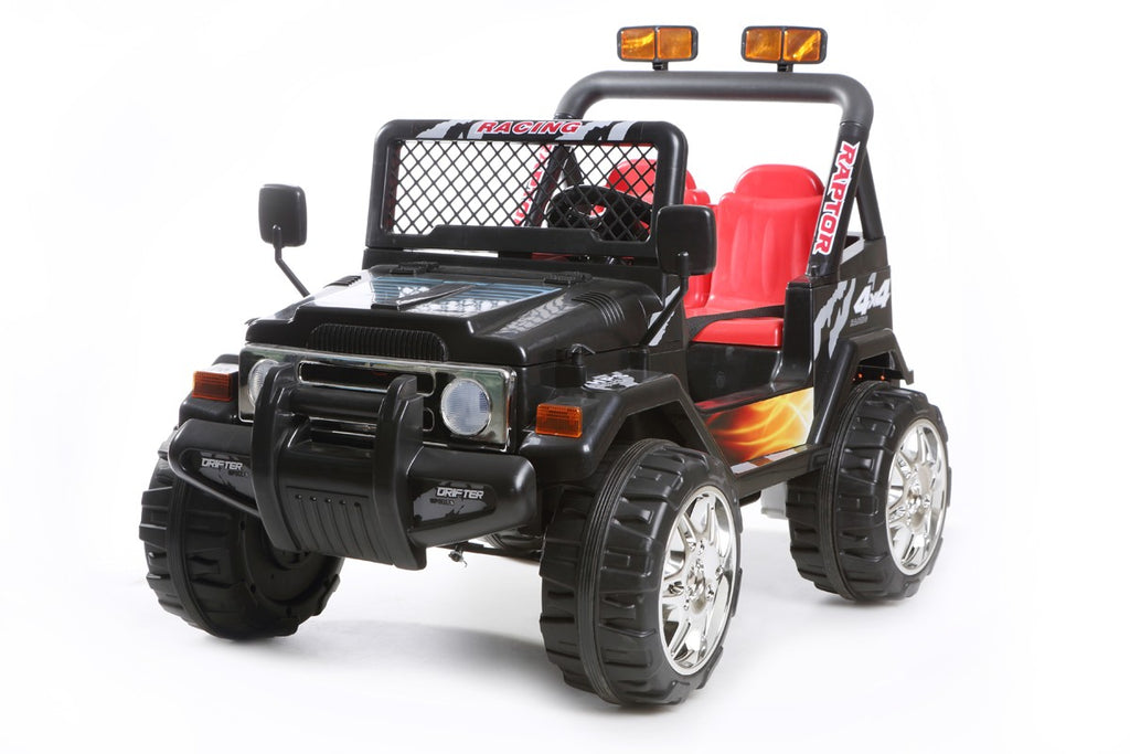 Drifter 4x4 12V Jeep Black Free Delivery