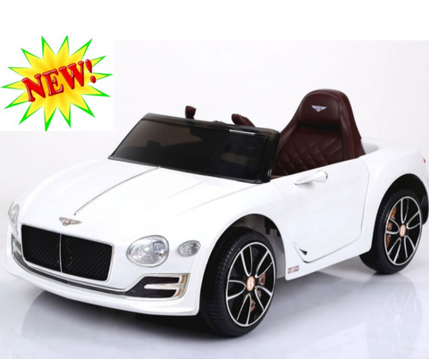 12v Licensed Bentley Concept Car Leather Seat EVA Tire White