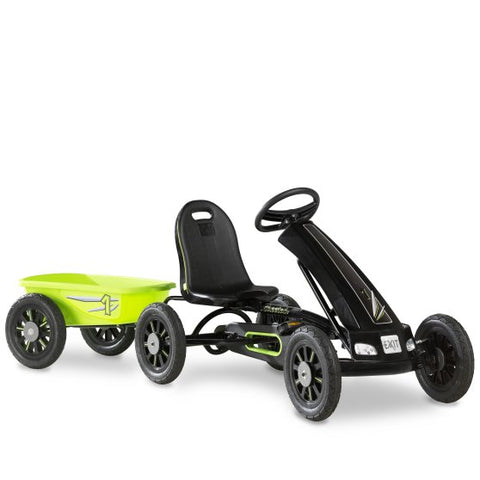 Cheetah pedal go-kart with Sounds & Lights + Trailer