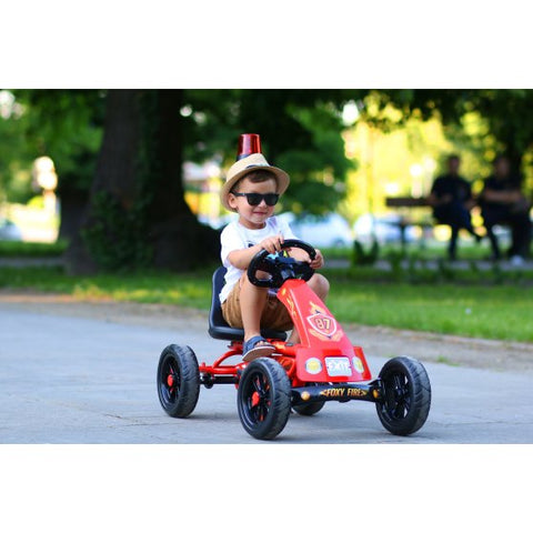 Junior Fireman Go-Kart with Flashing Light & Sounds