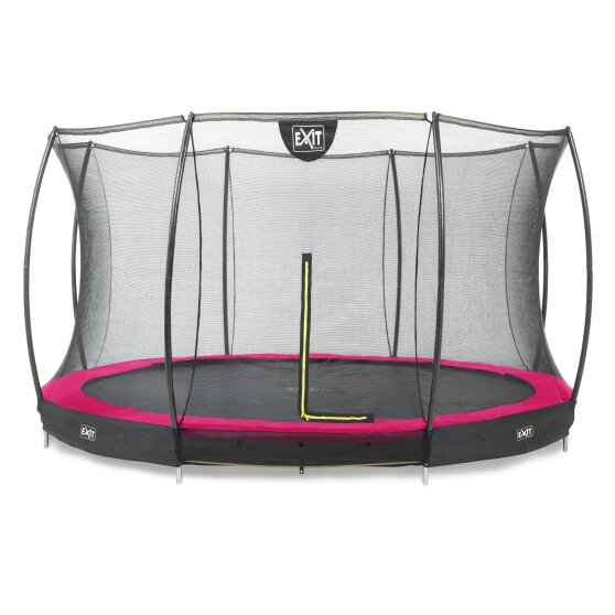 Pre-Order Silhouette In-Ground Trampoline + Safety Net 14ft Pink Pad