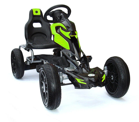 Tornado Eva Tire Go-Kart Green/Black