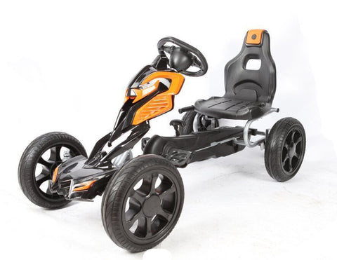 Pre-Order Tornado Eva Tire Go-Kart Black/Orange