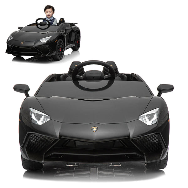 12V Licensed Lamborghini 2 Seater Ride On Car Black ...