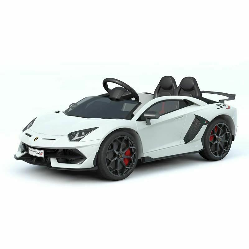 Pre-Order 12V Licensed Lamborghini 2 Seater Ride On Car White