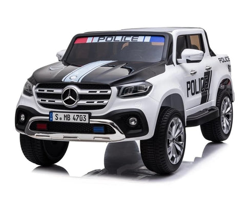 24v Mercedes Benz X Class Licensed Police Jeep EVA Tires