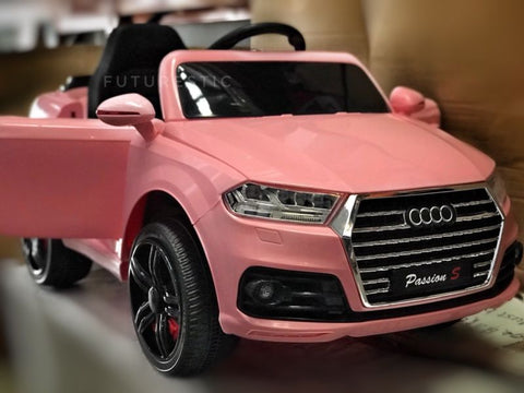 ... 12v Pink Audi Q7 Style Car New Model 2018 ...