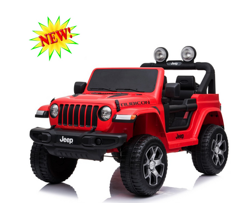 12V Licensed Jeep Rubicon  Red