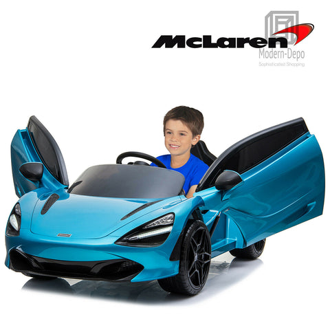 12V Licensed McLaren 720S Ride On Car Blue