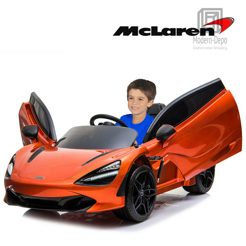 12V Licensed McLaren 720S Ride On Car Orange