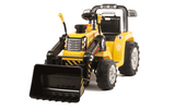 12v Tractor with Moving Loader Bucket Yellow
