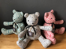 HERITAGE IDA BEAR (PALE GREY & ECRU)