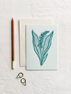 COLOURBLOCK LILY OF THE VALLEY BLANK CARD
