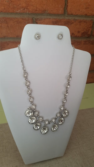 Simple Necklace and Earrings Set