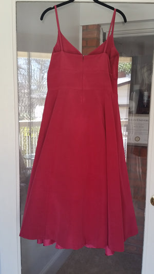 MOVED TO CLEARANCE Midi Sleeveless V-Neck Dress by Charsa, Size 8