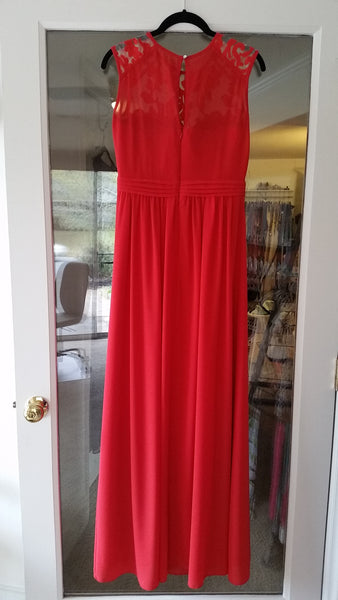 Red Maxi Sleeveless Jewel Dress by Little Mistress, Size 4
