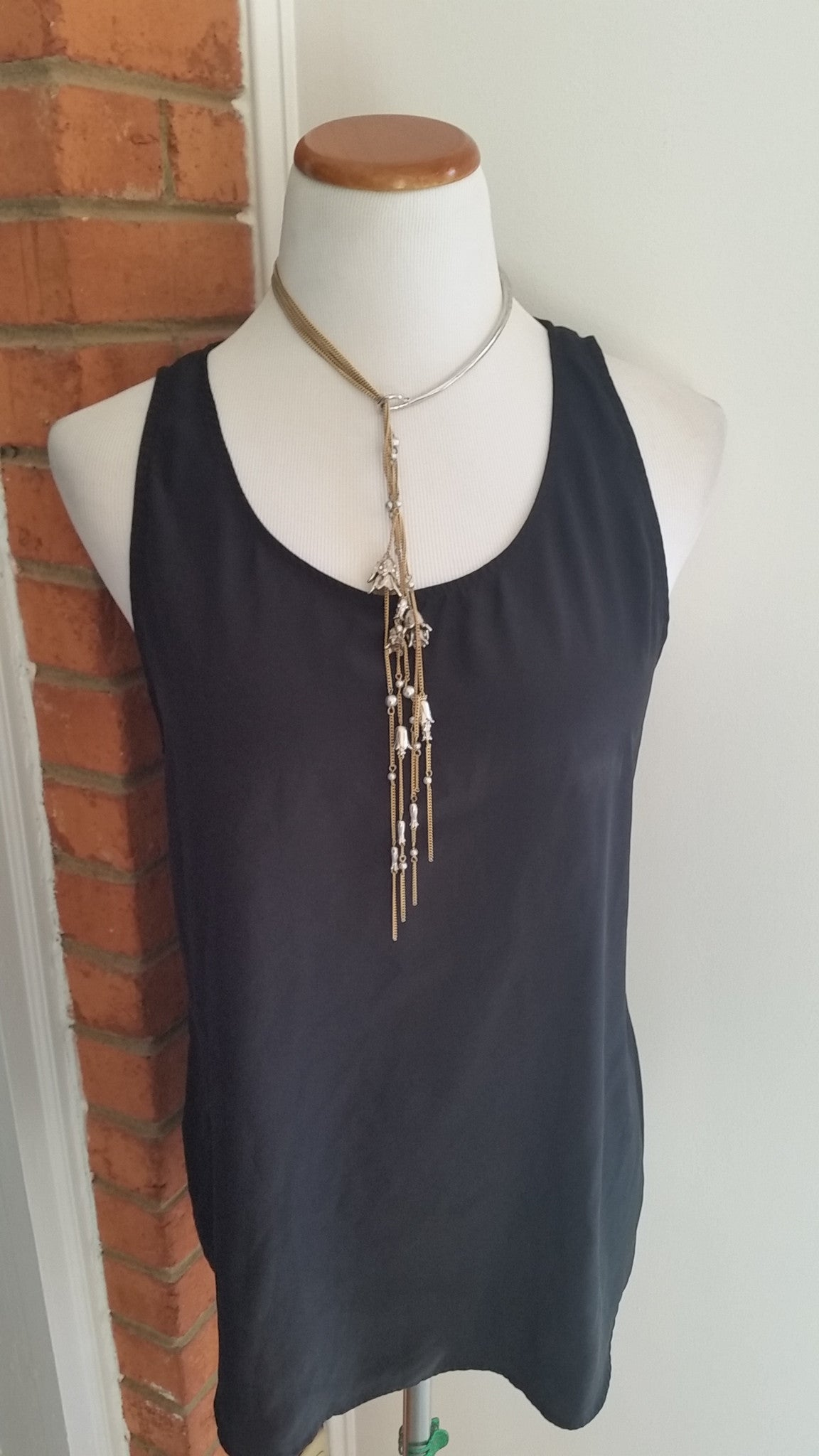 Long Hanging Florets Necklace by Chloe and Isabel