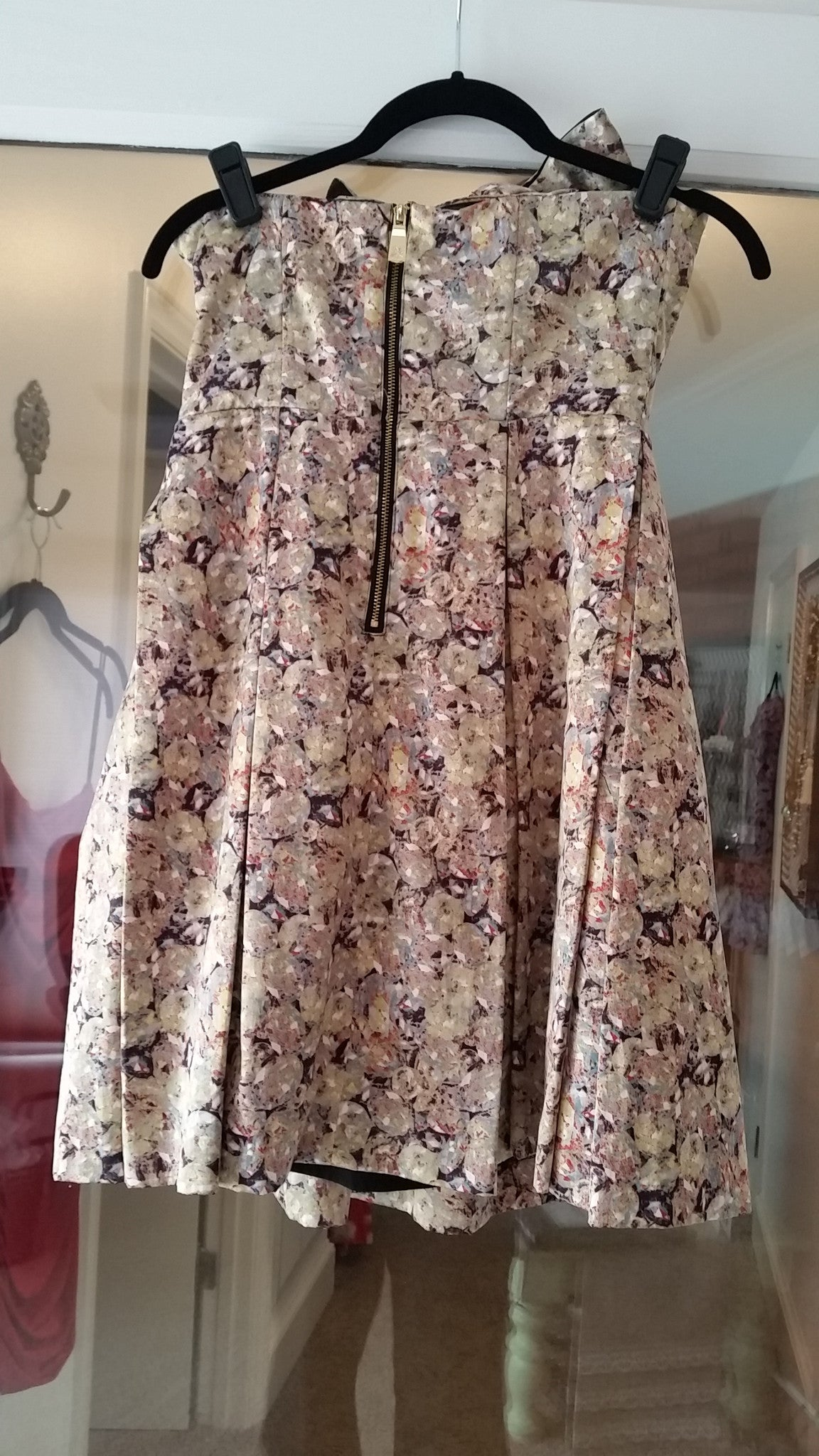 Pattern Mini Strapless Straight Across Dress by Kate Young for Target, Size 2