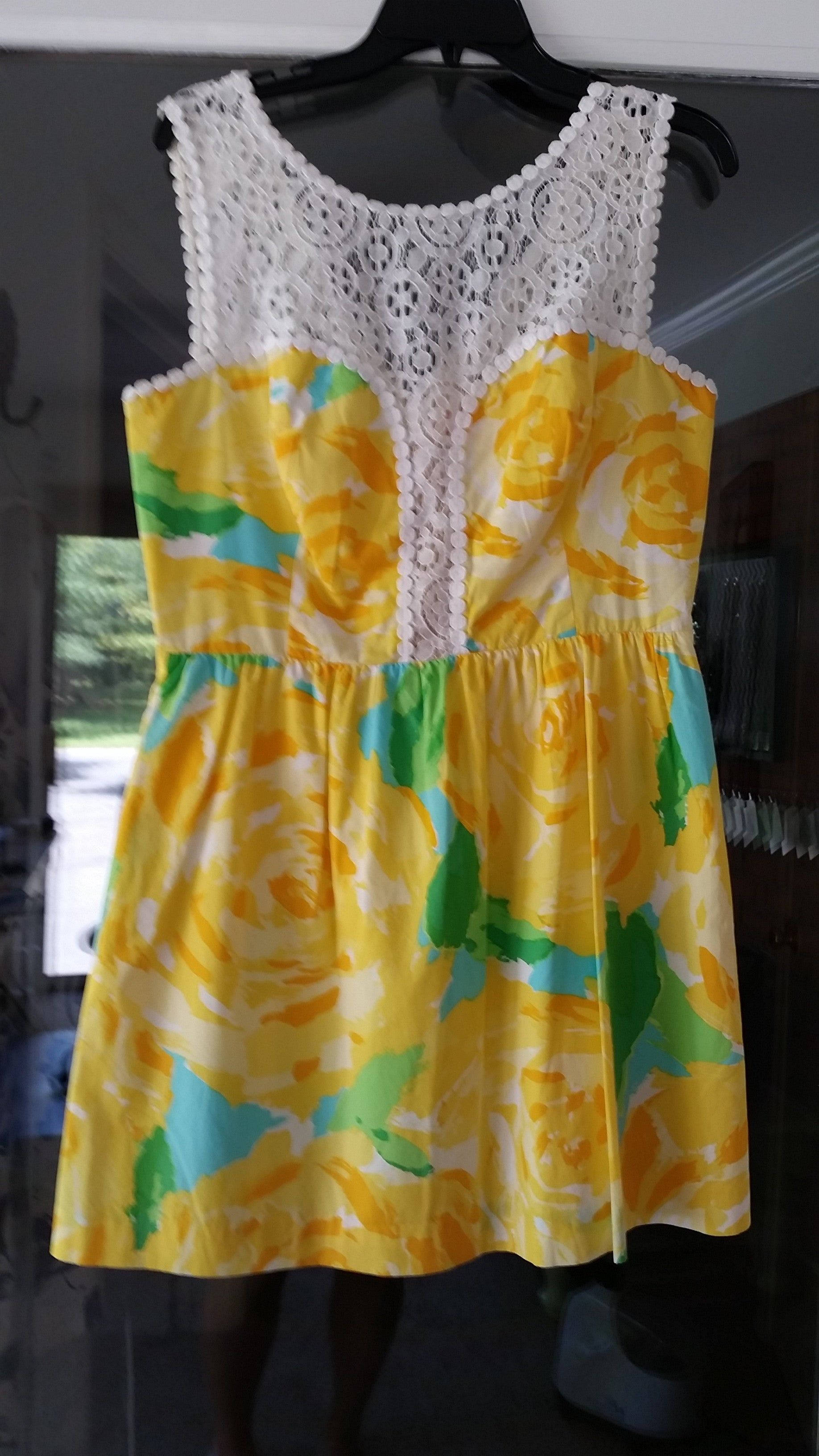 RETURNED TO LENDER ON 7/18/18. Yellow Mini Sleeveless Jewel Dress by Lilly Pulitzer, Size 12