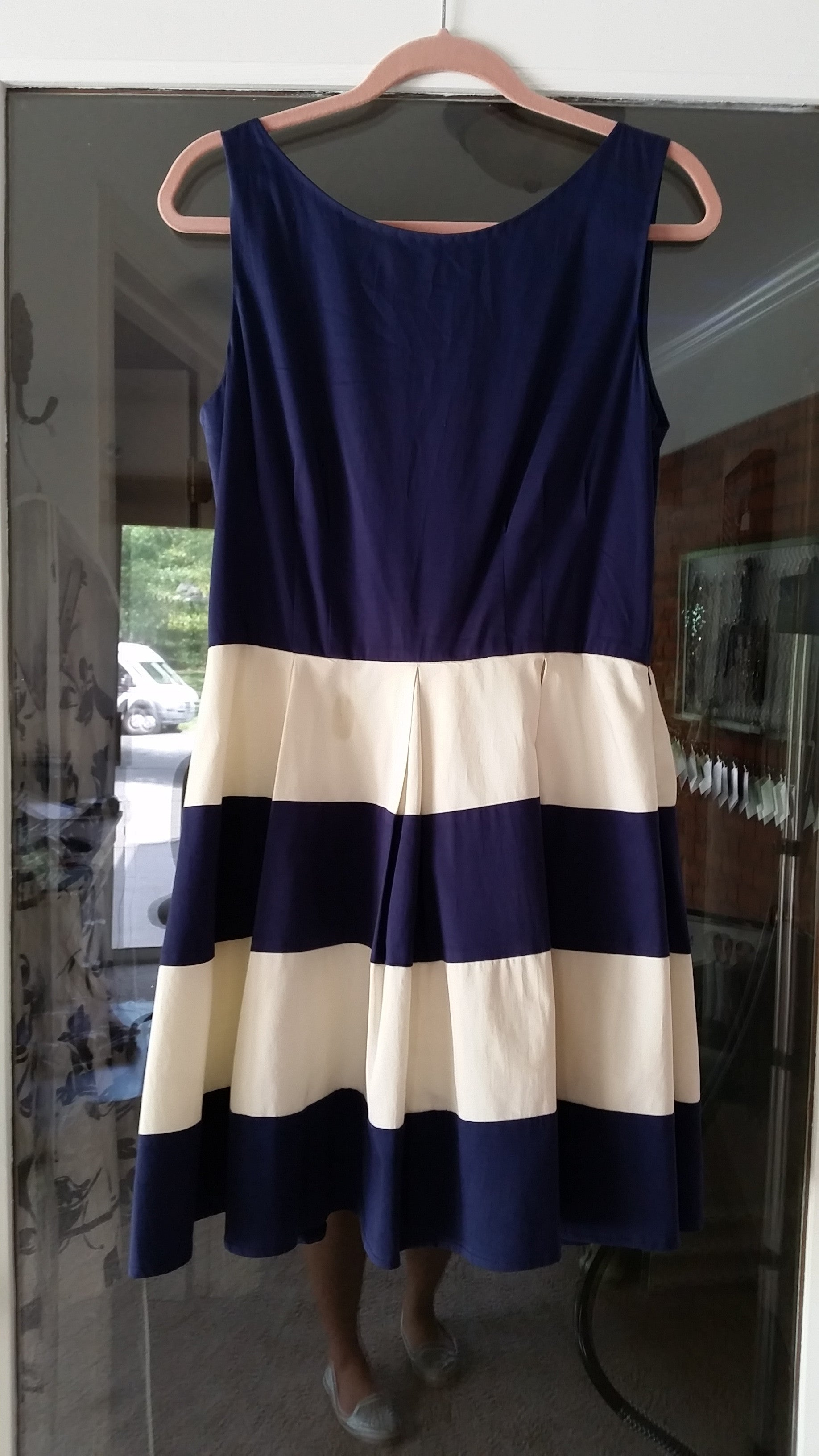 RETURNED TO LENDER ON 7/18/18. Blue Midi Sleeveless Boat Dress by Kate Spade, Size 12