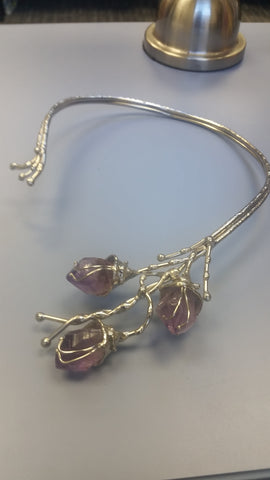 Amethyst Structured Necklace