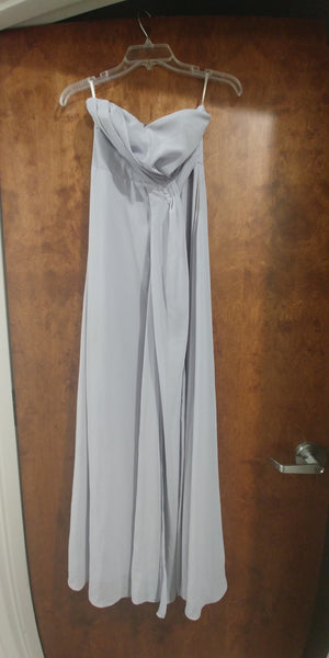 Gray Maxi Strapless Sweetheart Dress by Lulus, Size 6, 0000307