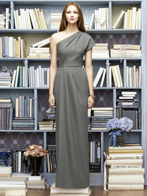 Returned to lender 1/8/19 Gray Maxi One Shoulder Asymmetrical Dress by Lela Rose, Size 12