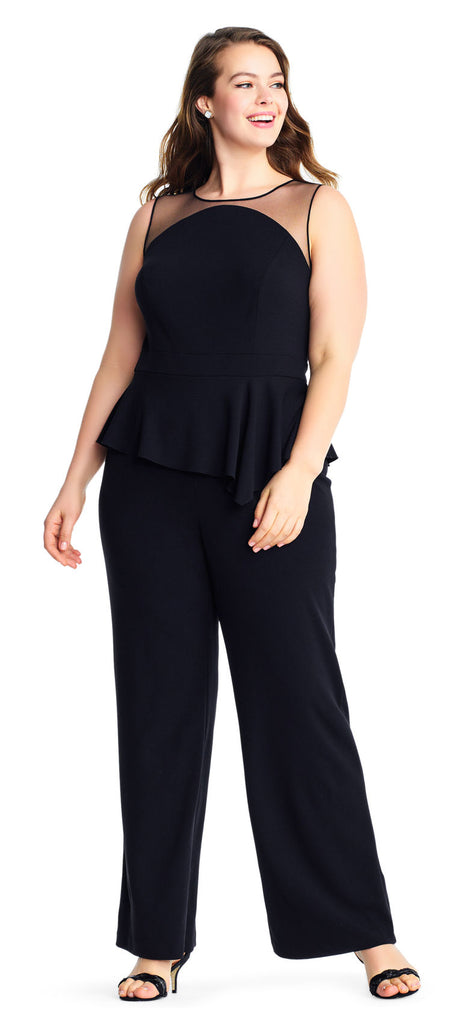 624b242e6a58 Black Jumpsuit Sleeveless Illusion Dress by Adrianna Papell