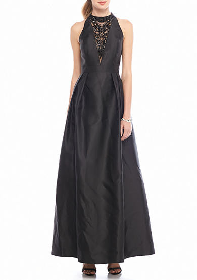 FOR SALE Black Maxi Sleeveless Halter Dress by Adrianna Papell, Size 6