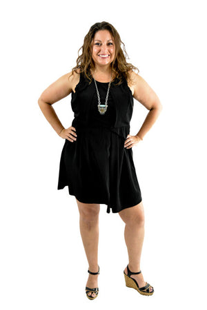 RETURNED TO LENDER ON 7/23/18.Black Sleeveless Semi-Formal Dress by Dylan Rose, Size 12