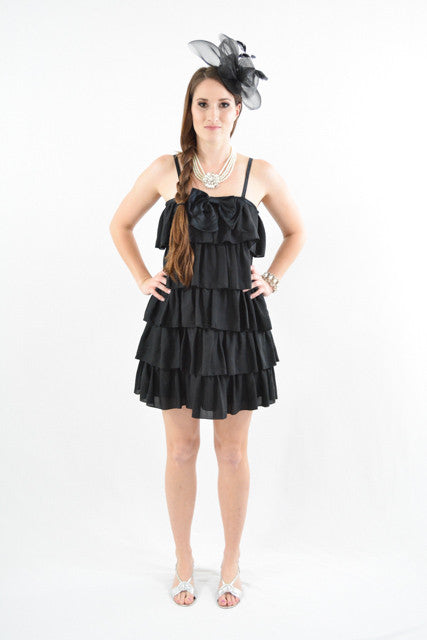 RETURNED TO LENDER ON 7/20/18. Black Sleeveless Semi-Formal Dress by Erin Fetherston, Size 4