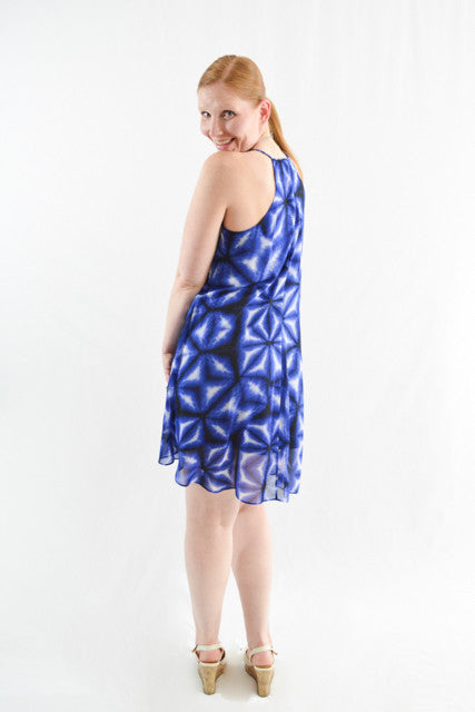 Blue Sleeveless Day Dress by Calvin Klein, Size 10