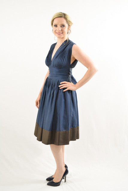 Blue Sleeveless Semi-Formal Dress by BCBG Max Azria, Size 2 RENT $59