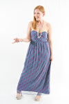 Blue Strapless Semi-Formal Dress by BCBG Generation, Size 12